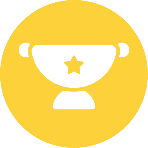 Yellow trophy icon